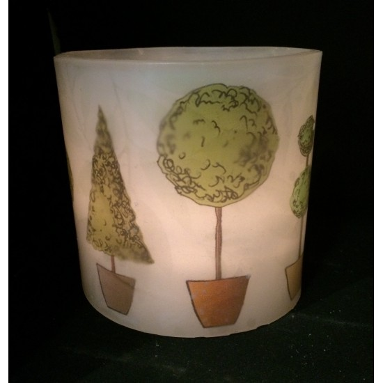 Topiary Hurricane Candle